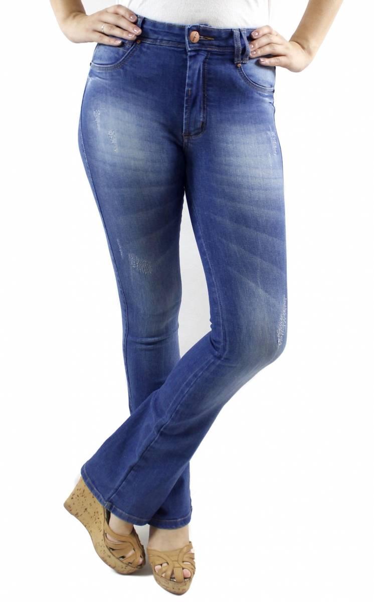 Calça Flare Jeans Claro Feminina F2018063