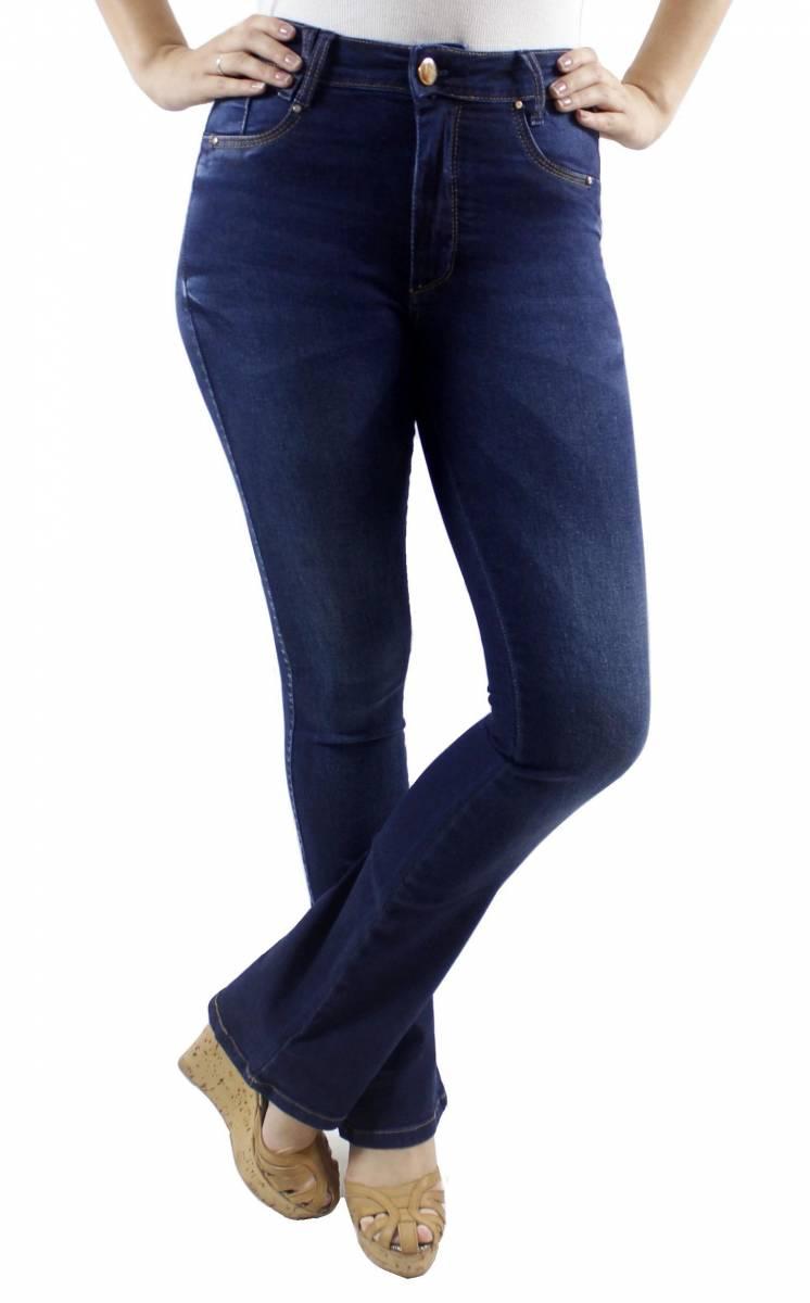 Calça Flare Jeans Escuro Feminina F2018060