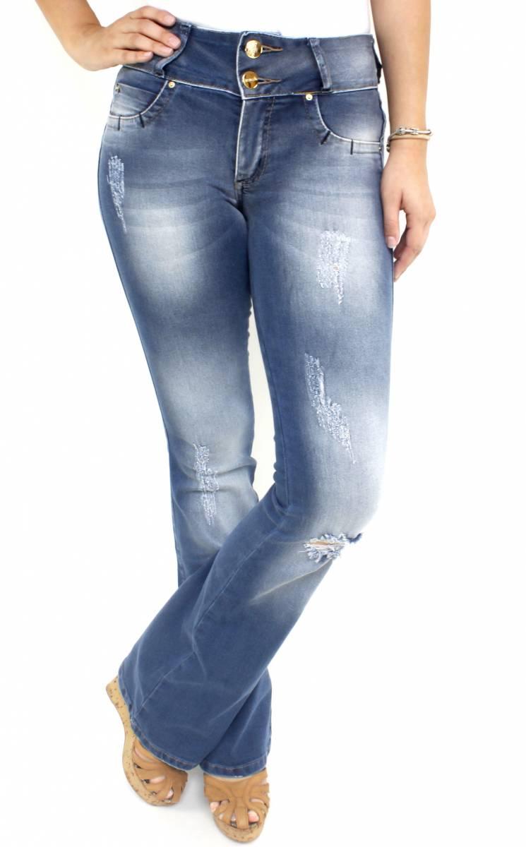 Calça Jeans Clara Feminina Flare F2018001
