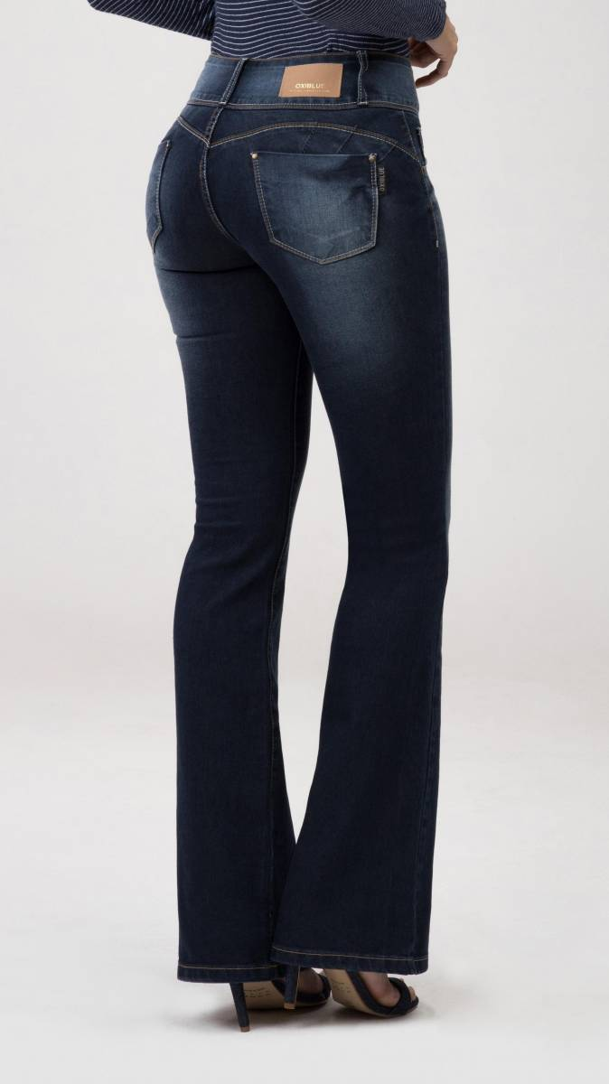 Calça Jeans Feminina Flare Levanta Bumbum F2020138