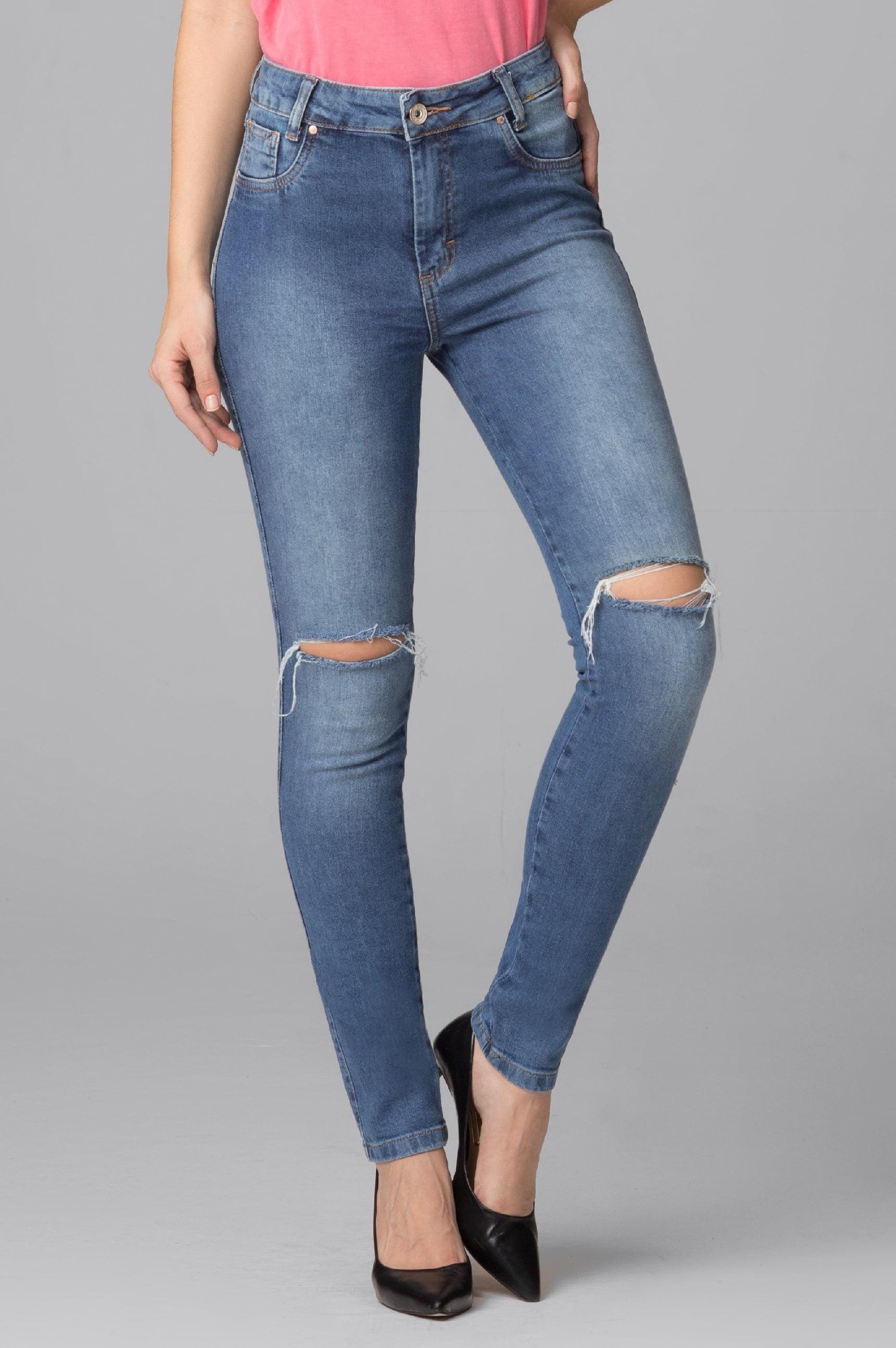 Calça Jeans Cintura Alta F2021041