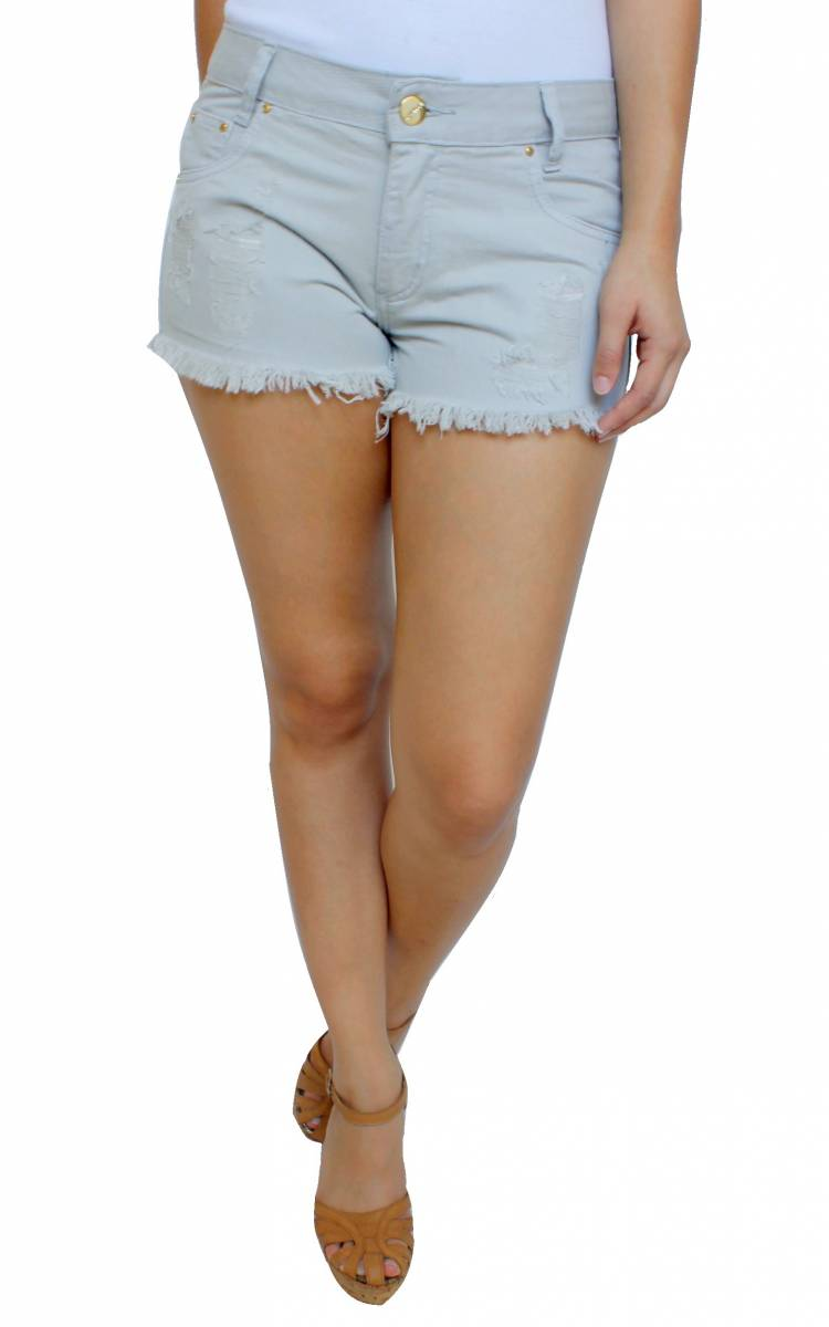 Short Caqui Destroyed Feminino S172030