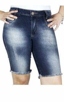 Bermuda Jeans Feminina Cintura Alta BF19001