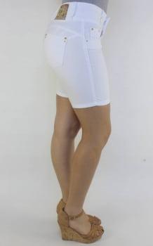 Bermuda Sarja Feminina Levanta Bumbum Branca F2000102
