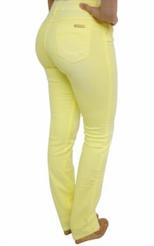 Calça Flare Amarela Feminina