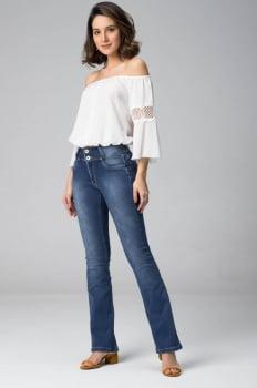 Calça Flare Jeans Levanta Bumbum F2020205