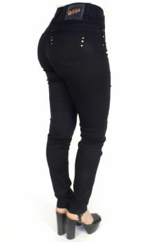 Calça Jeans Feminina Skinny Preta F2017056