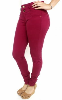 Calça Marsala Feminina Skinny F2018015
