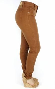 Calça Jeans Skinny Feminina Conhaque F2017021