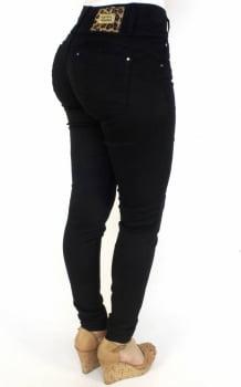 Calça Jeans Feminina Skinny Preta Levanta Bumbum F2017103