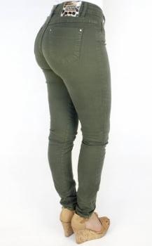 Calça Sarja Feminina Skinny Verde Militar F2017020