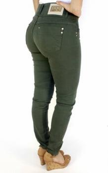 Calça Verde Militar Feminina Skinny F2017052
