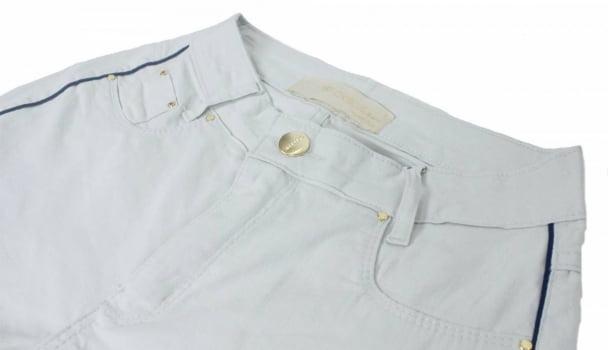 Calça Skinny Off White Com Listra Lateral F2019033