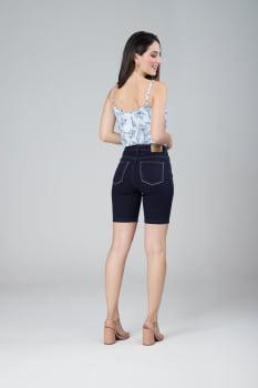Bermuda Jeans Cintura Alta F2020415