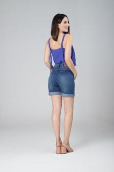 Bermuda Jeans Cintura Alta F2020440