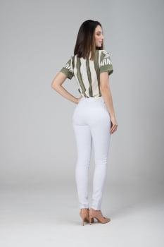 Calça Branca Cintura Alta F2020491