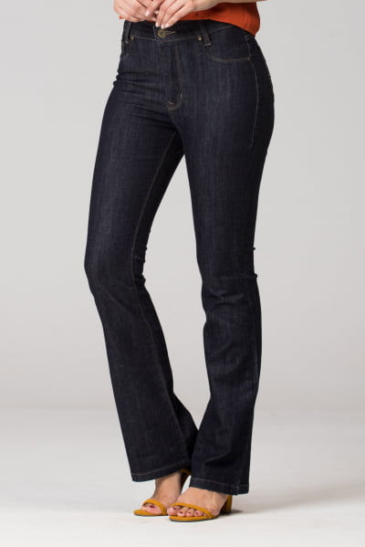 Calça Flare Jeans Cintura Alta F2021004