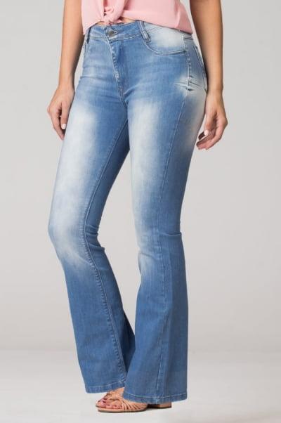 Calça Flare Jeans Cintura Alta F2021012
