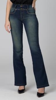 Calça Flare Jeans Escuro F2020471