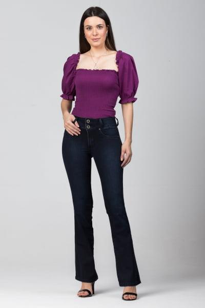 Calça Flare Jeans Escuro Feminina F2021771