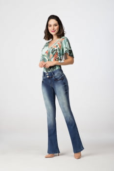 Calça Flare Jeans Levanta Bumbum F2020311