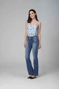 Calça Flare Jeans Levanta Bumbum F2020480
