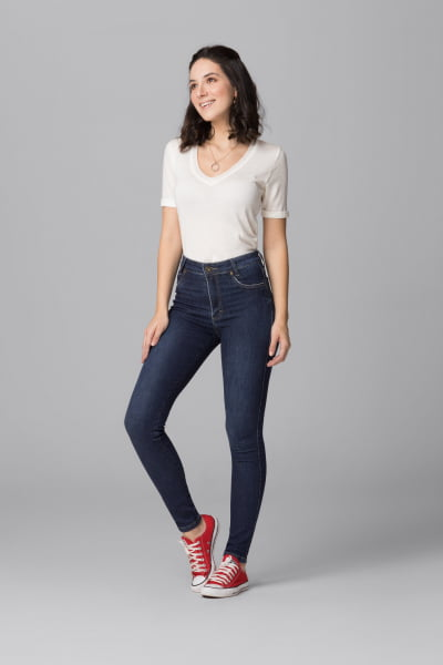 Calça Jeans Feminina Cintura Alta F2021039