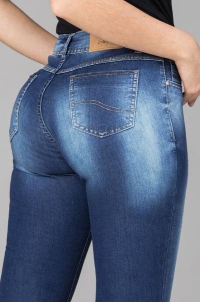 Calça Jeans Feminina Skinny Cintura Média F2021709