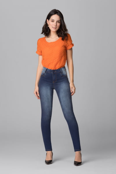 Calça Jeans Feminina Skinny F2021030
