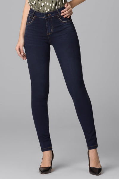 Calça Jeans Skinny Cintura Alta F2021045