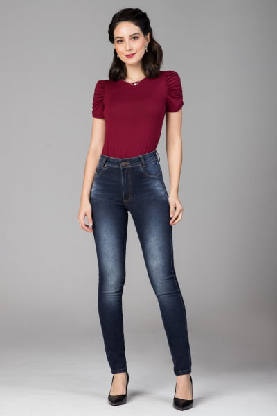 Calça Jeans Skinny Cintura Alta F2021704