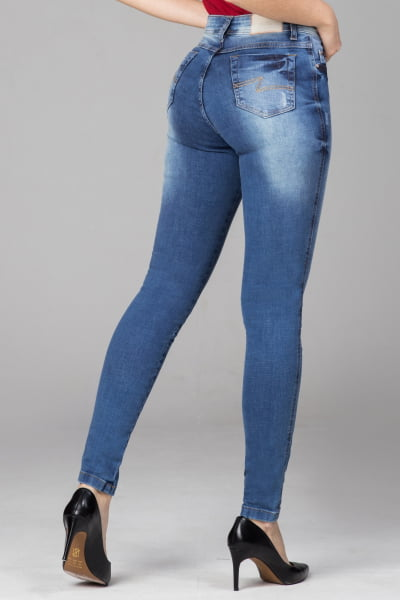 Calça Jeans Skinny Cintura Alta F2021705