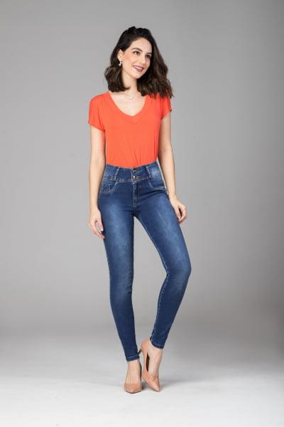 Calça Jeans Skinny Levanta Bumbum F2021712