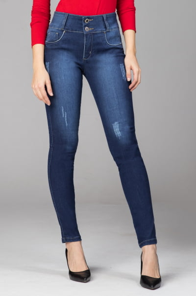 Calça Levanta Bumbum Jeans Skinny F2021717
