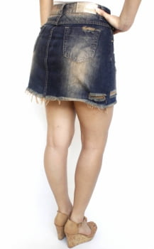 Saia Jeans Destroyed Feminina SA12004