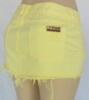 Saia Sarja Feminina Curta Amarelo F2120004