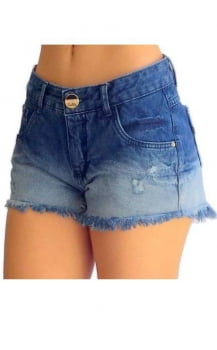 Shorts Jeans Feminino Degradê F2119