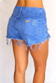 Shorts Sarja Feminino Azul Bic F2118002