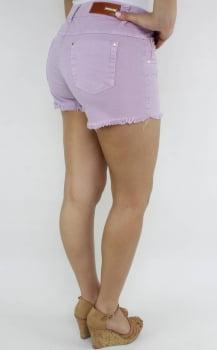 Short Sarja Feminino Lilas S172013